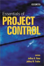 Cover of: Essentials of project control |