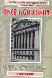 Cover of: Once in Golconda | John Brooks