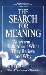 Cover of: The search for meaning