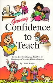 Cover of: Gaining confidence to teach
