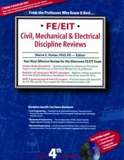 Cover of: FE/EIT Discipline Review  | Merle C., Phd, Pe Potter