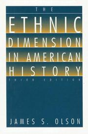 Cover of: The Ethnic Dimension in American History