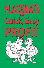 Cover of: Placemats for Quick, Easy Profit