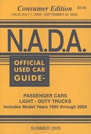 Cover of: N.A.D.A. Official Used Car Guide: Consumer Edition  |