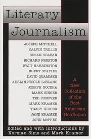 Cover of: Literary journalism