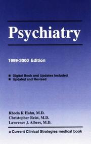 Cover of: Psychiatry, 1999-2000 Edition (Current Clinical Strategies Series) |