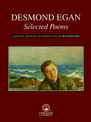 Cover of: Desmond Egan, selected poems