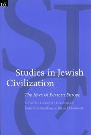 Cover of: The Jews of Eastern Europe