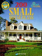 Cover of: 200 small house plans |
