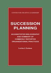 Cover of: Succession planning