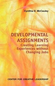 Cover of: Developmental assignments | Cynthia D. McCauley