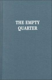 Cover of: The empty quarter: stories