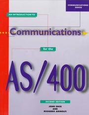 Cover of: An introduction to communications for the AS/400
