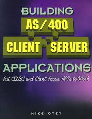 Cover of: Building AS/400 Client Server Applications