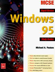 Cover of: Windows 95 rapid review study guide | Michael A. Pastore
