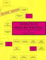 Cover of: Effective resume writing