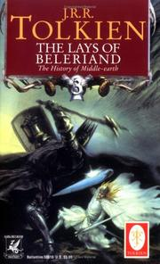 Cover of: The Lays of Beleriand (The History of Middle-Earth, Vol. 3)