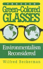 Cover of: Through green-colored glasses