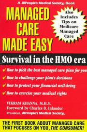 Cover of: Managed care made easy