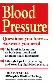 Cover of: Blood pressure |