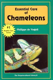 Cover of: Essential care of chameleons | Philippe de Vosjoli