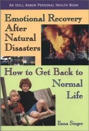 Cover of: Emotional Recovery After Natural Disasters | Ilana Singer