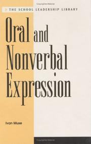 Cover of: Oral and nonverbal expression