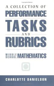 Cover of: A collection of performance tasks and rubrics