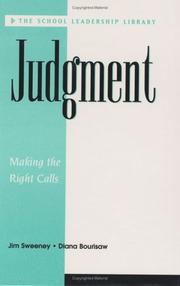 Cover of: Judgment | Sweeney, Jim