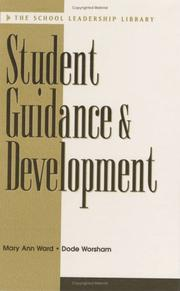 Cover of: Student guidance and development