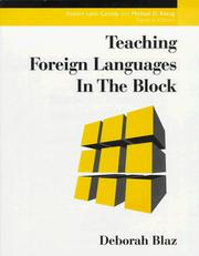 Cover of: Teaching foreign languages in the block