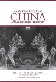 Cover of: Contemporary China | Sino-American Conference on Contemporary China (26th 1997 University of Maryland)