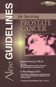 Cover of: New guidelines for surviving prostate cancer