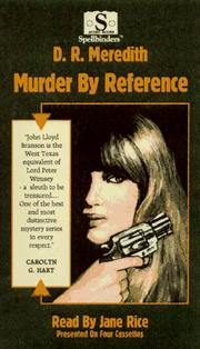 Cover of: Murder By Reference