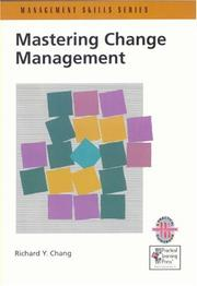 Cover of: Mastering change management