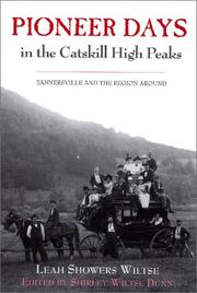 Cover of: Pioneer days in the Catskill high peaks