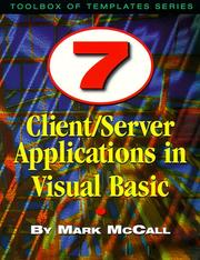 Cover of: Client/server applications in Visual Basic