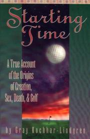 Cover of: Starting time