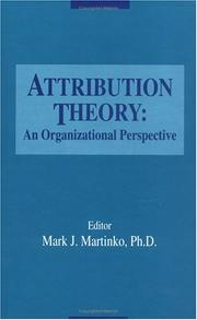 Cover of: Attribution theory |