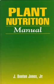 Cover of: Plant nutrition manual