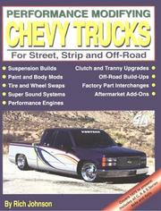 Cover of: Performance modifying Chevy trucks