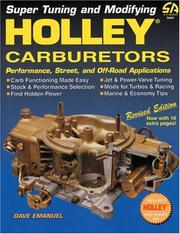 Cover of: Holley Carburetors (S-a Design)