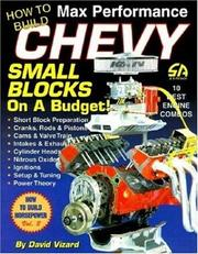 Cover of: How to Build Max Performance Chevy Small Blocks on a Budget (S-a Design) | David Vizard