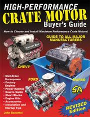 Cover of: High-Performance Crate Motor Buyer's Guide (revised) (S-A Design)