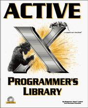 Cover of: ActiveX programmer's library