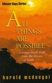 Cover of: All Things Are Possible