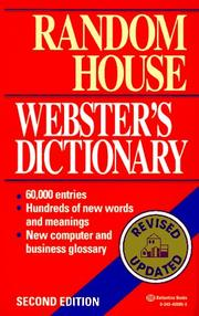 Cover of: Random House Webster's Dictionary | Dictionary, Carol G. Braham