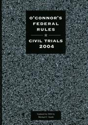 Cover of: O'Connor's Federal Rules | Michael C. Smith