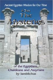 Cover of: On the Mysteries of the Egyptians, Chaldeans and Assyrians