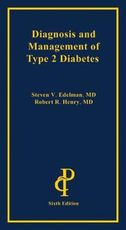 Cover of: Diagnosis And Management Of Type 2 Diabetes | Steven V. Edelman